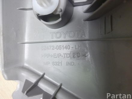 TOYOTA AVENSIS Estate (ZRT27, ADT27) 2009 Lining, pillar d Upper left side 62472-05140 / 6247205140