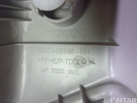 TOYOTA AVENSIS Estate (ZRT27, ADT27) 2009 Lining, pillar d Upper right side 62471-05140 / 6247105140
